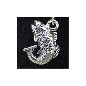 Bass Sterling Silver Charm