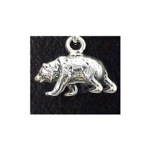 Grizzly Bear Sterling Silver Charm