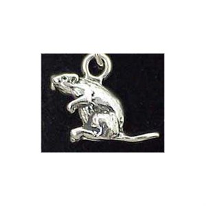 Beaver Sterling Silver Charm