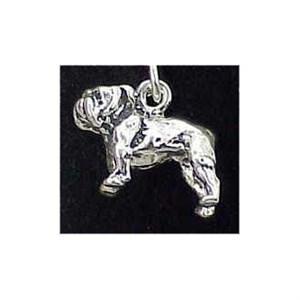 Bulldog Sterling Silver Charm