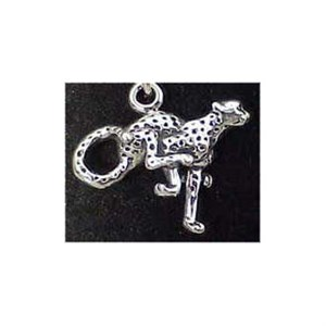 Cheetah Sterling Silver Charm