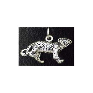 Leopard Sterling Silver Charm