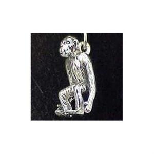 Chimpanzee Sterling Silver Charm