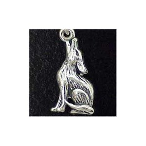 Coyote Sterling Silver Charm