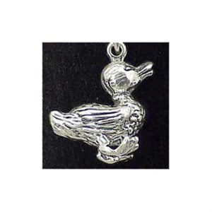 Duck Sterling Silver Charm