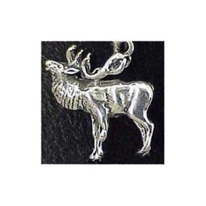 Elk Sterling Silver Charm