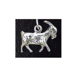Goat Sterling Silver Charm