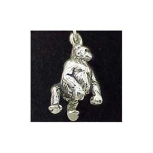 Gorilla Sterling Silver Charm