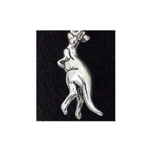 Kangaroo Sterling Silver Charm
