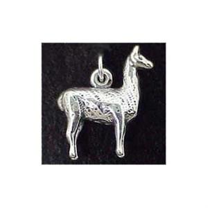 Llama Sterling Silver Charm