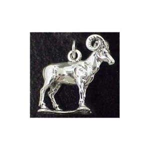 Big Horn Sheep Sterling Silver Charm