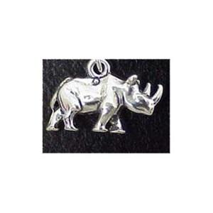 Rhinoceros Sterling Silver Charm