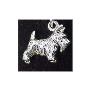 Scottish Terrier Sterling Silver Charm