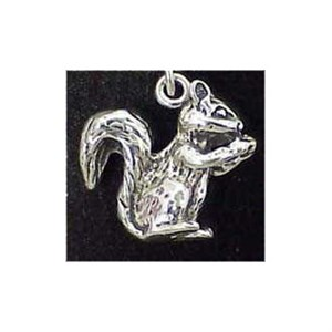 Squirrel Sterling Silver Charm
