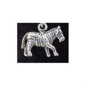 Zebra Sterling Silver Charm