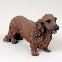 Longhaired Dachshund Figurine