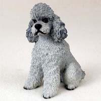 Gray Poodle Figurine