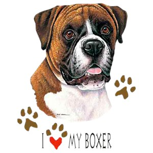 Boxer T-Shirt - I Heart My