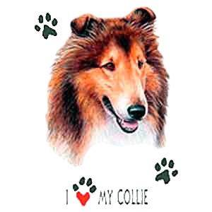 Collie T-Shirt - I Heart My