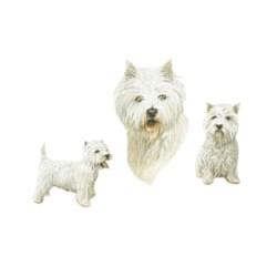 West Highland Terrier T-Shirt - Trio of Three