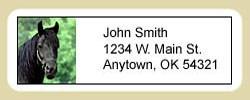 Black Horse Address Labels