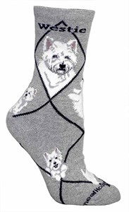 West Highland Terrier Socks