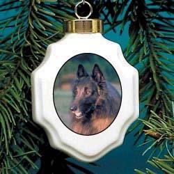 Belgian Tervuren Christmas Ornament Porcelain