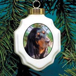 Coonhound Christmas Ornament Porcelain