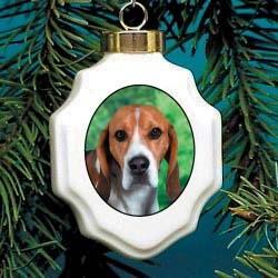 Harrier Christmas Ornament Porcelain
