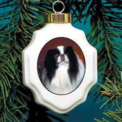 Japanese Chin Christmas Ornament Porcelain