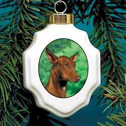 Pharaoh Hound Christmas Ornament Porcelain