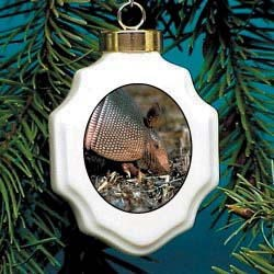 Armadillo Christmas Ornament Porcelain