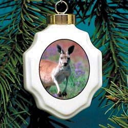 Kangaroo Christmas Ornament Porcelain
