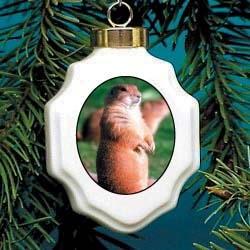 Prairie Dog Christmas Ornament Porcelain