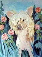 Chinese Crested Garden Flag
