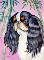 English Toy Spaniel Garden Flag