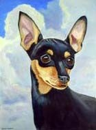 Miniature Pinscher Garden Flag
