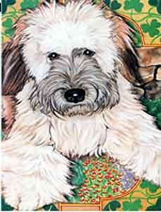 Wheaten Terrier Garden Flag