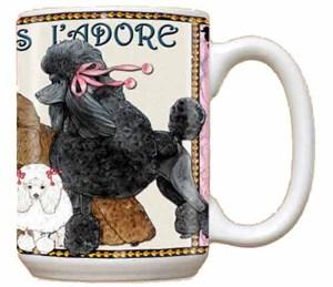 Black Poodle Coffee Mug