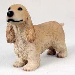 English Cocker Spaniel Figurine Blonde