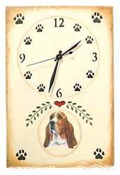 Basset Hound Clock
