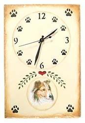 Shetland Sheepdog Clock