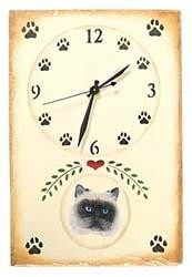 Himalayan Cat Clock