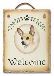 Chihuahua Slate Welcome Sign