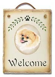 Pomeranian Slate Welcome Sign