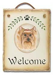Yorkshire Terrier Slate Welcome Sign