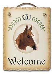 Quarter Horse Slate Welcome Sign