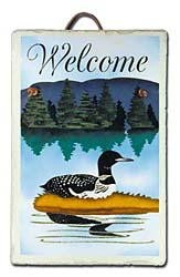 Loon Slate Welcome Sign