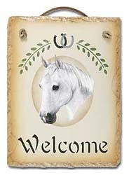 Arabian Horse Slate Welcome Sign