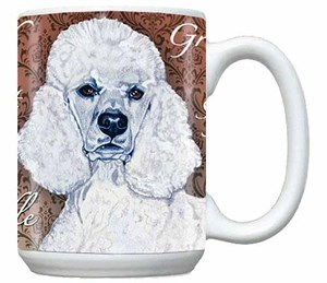 White Poodle Coffee Mug